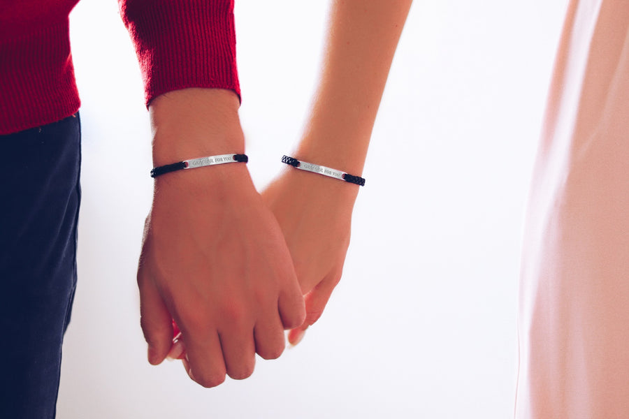 Grateful For You -- Couples/ Friendship set -- 2 bracelets included