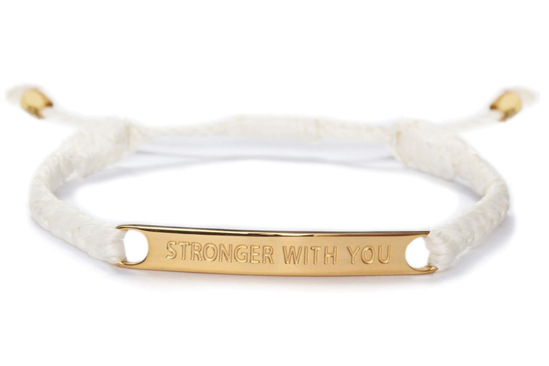 Stronger With You Bracelet - White
