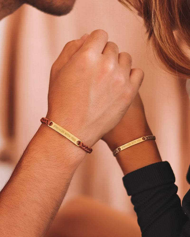 Stronger With You Bracelet - Brown