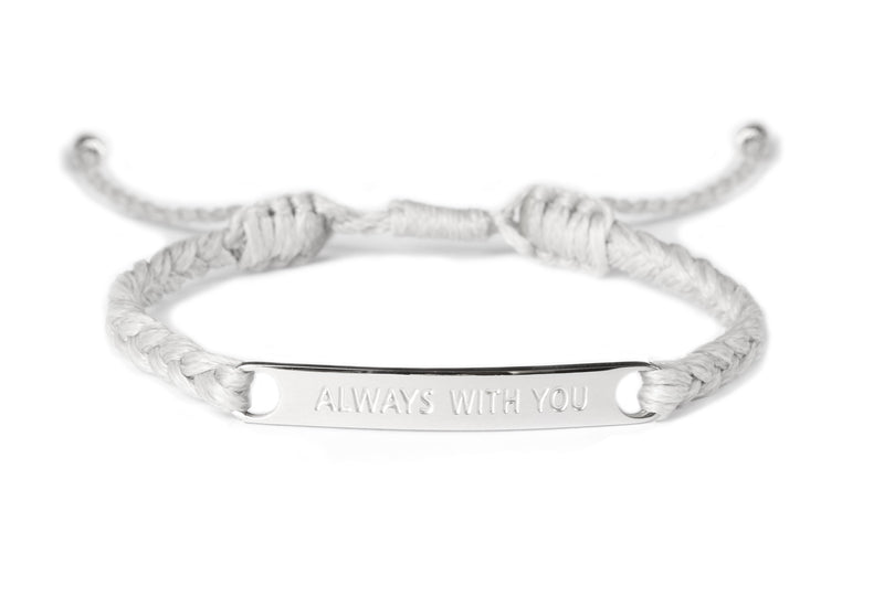 Always With You Engraved Bracelet