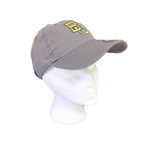 The Baylor Gunmetal Grey Interlocking BU Hat - Bailes Brothers Clothiers  - 5