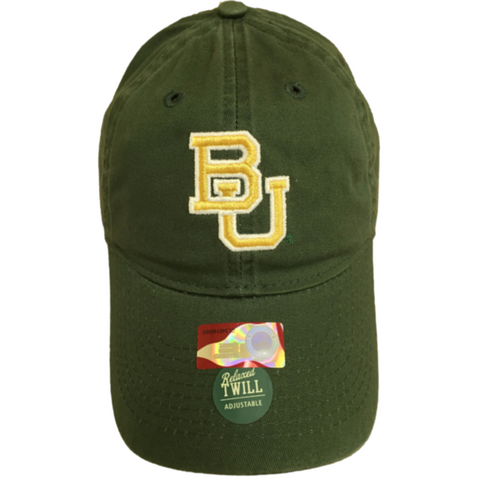 The Baylor Green Interlocking BU Hat - Bailes Brothers Clothiers  - 4
