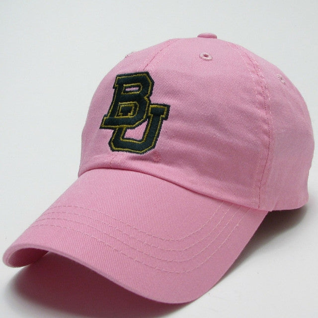 The Baylor Interlocking BU Slouch Hat - Pink - Bailes Brothers Clothiers  - 1