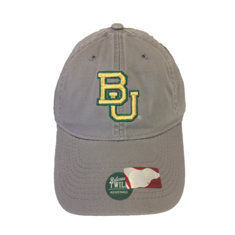 The Baylor Gunmetal Grey Interlocking BU Hat - Bailes Brothers Clothiers  - 4
