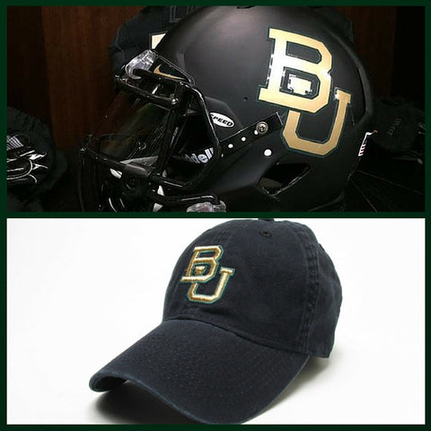 The Baylor Black Interlocking BU Hat - Bailes Brothers Clothiers  - 2