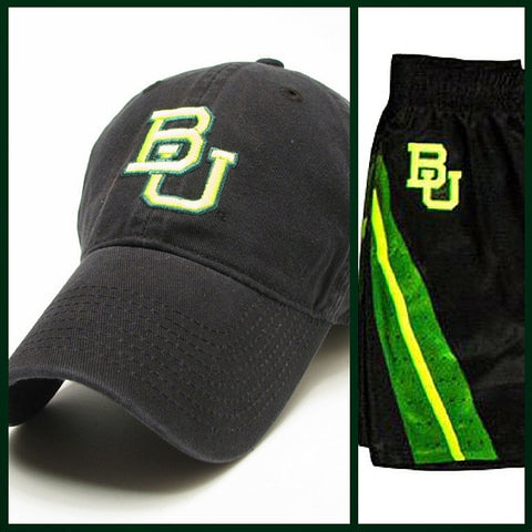 The Baylor Basketball Interlocking BU Hat - Black - Bailes Brothers Clothiers  - 2