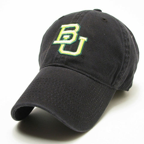 The Baylor Basketball Interlocking BU Hat - Black - Bailes Brothers Clothiers  - 3