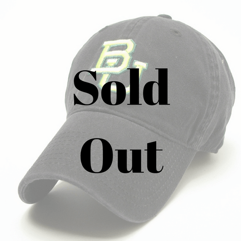 The Baylor Basketball Interlocking BU Hat - Black
