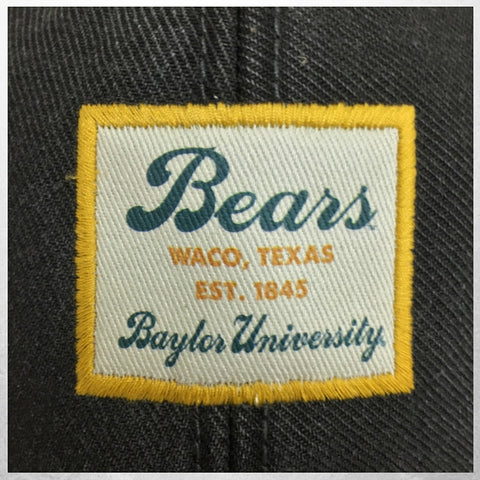 The Baylor University Vintage Serge Hat - Black - Bailes Brothers Clothiers  - 5