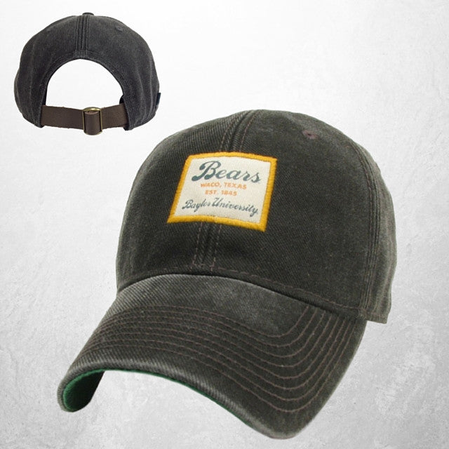 The Baylor University Vintage Serge Hat - Black - Bailes Brothers Clothiers  - 1