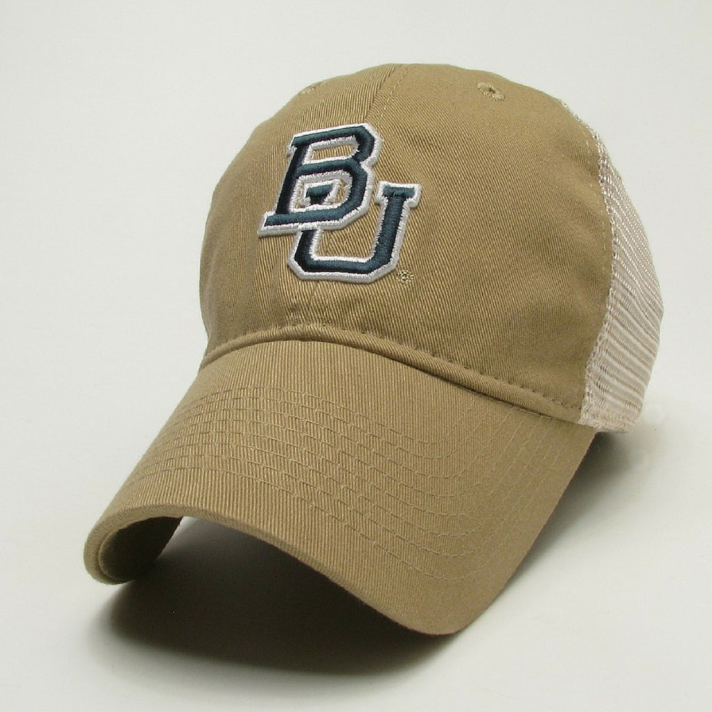 The Baylor Gold Interlocking BU Trucker Hat - Bailes Brothers Clothiers  - 1