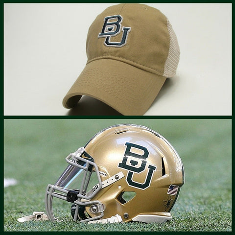 The Baylor Gold Interlocking BU Trucker Hat - Bailes Brothers Clothiers  - 2
