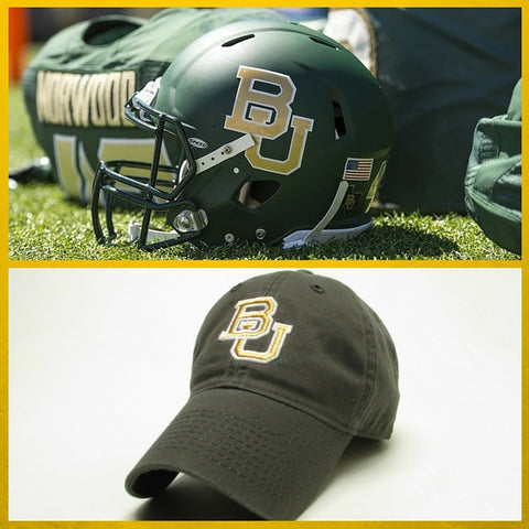 The Baylor Green Interlocking BU Hat - Bailes Brothers Clothiers  - 2