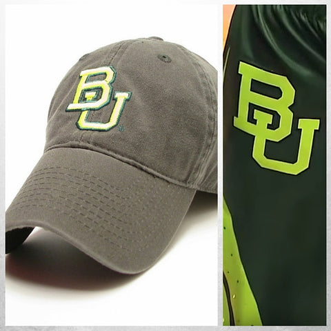 The Baylor Basketball Interlocking BU Hat - Green - Bailes Brothers Clothiers  - 2