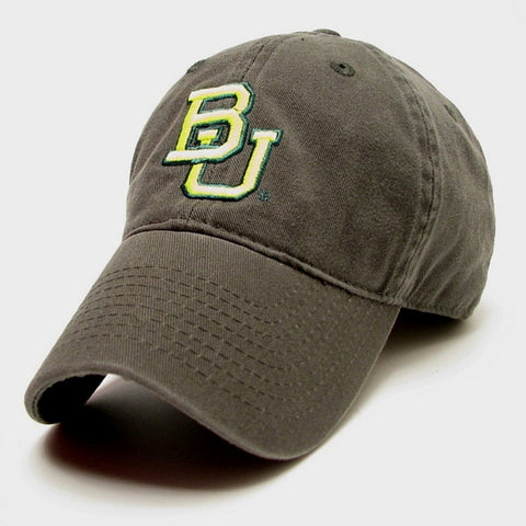 The Baylor Basketball Interlocking BU Hat - Green