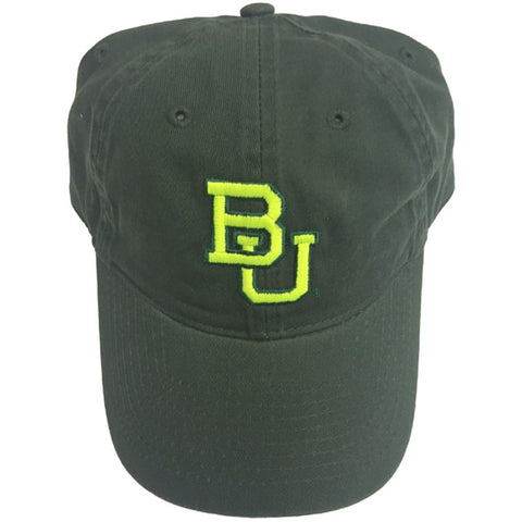 The Baylor Basketball Interlocking BU Hat - Green - Bailes Brothers Clothiers  - 4
