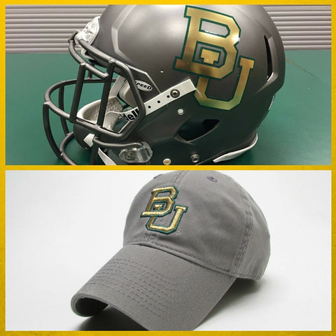 The Baylor Gunmetal Grey Interlocking BU Hat - Bailes Brothers Clothiers  - 2