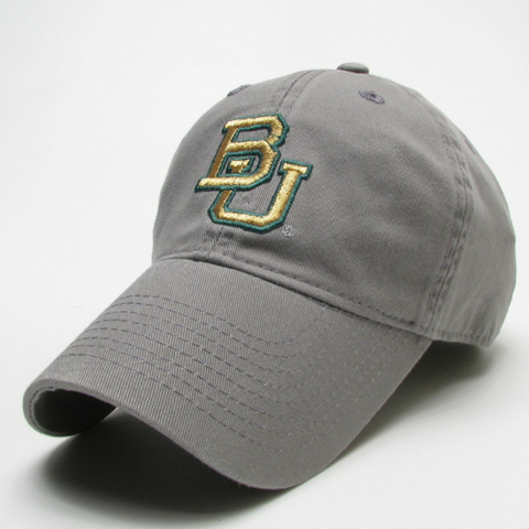 The Baylor Gunmetal Grey Interlocking BU Hat - Bailes Brothers Clothiers  - 1