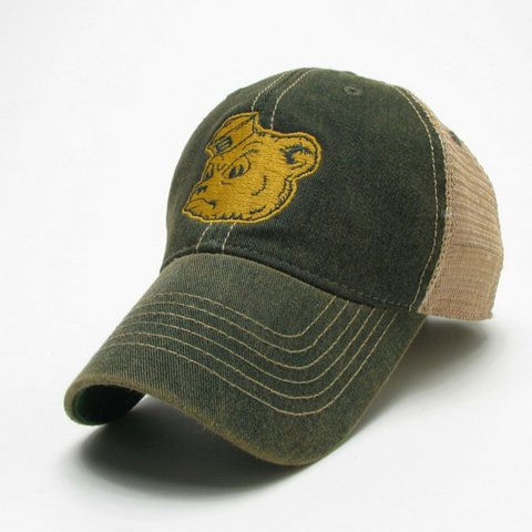 The Baylor Sailor Bear Vintage Trucker Hat
