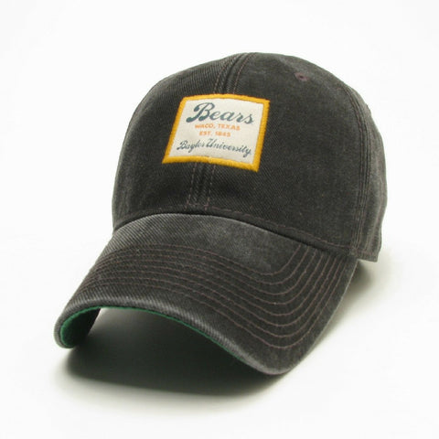 The Baylor University Vintage Serge Hat - Black - Bailes Brothers Clothiers  - 2