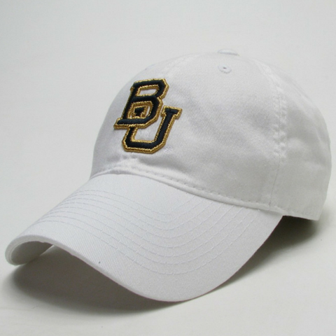 The Baylor White Interlocking BU Hat - Bailes Brothers Clothiers  - 3