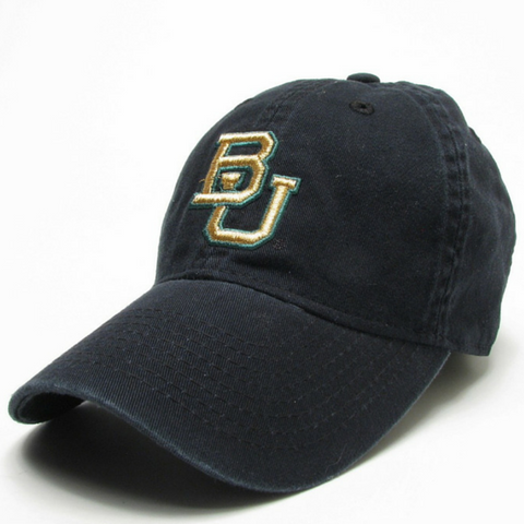The Baylor Black Interlocking BU Hat - Bailes Brothers Clothiers  - 3
