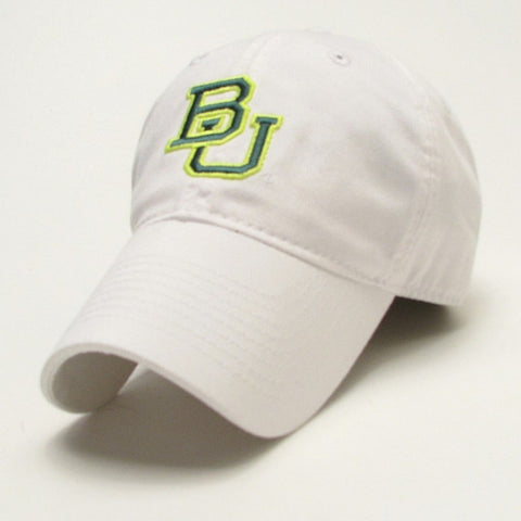 The Baylor Basketball Interlocking BU Hat - White