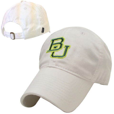 The Baylor Basketball Interlocking BU Hat - White - Bailes Brothers Clothiers  - 6