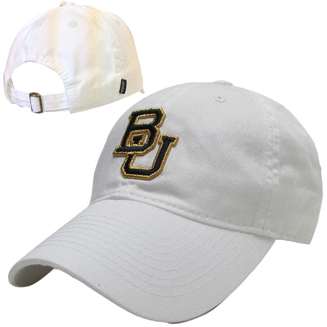 The Baylor White Interlocking BU Hat - Bailes Brothers Clothiers  - 6