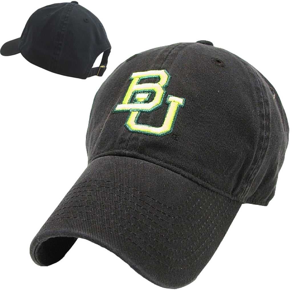 The Baylor Basketball Interlocking BU Hat - Black - Bailes Brothers Clothiers  - 7