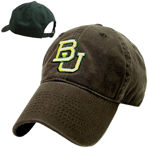 The Baylor Basketball Interlocking BU Hat - Green - Bailes Brothers Clothiers  - 6