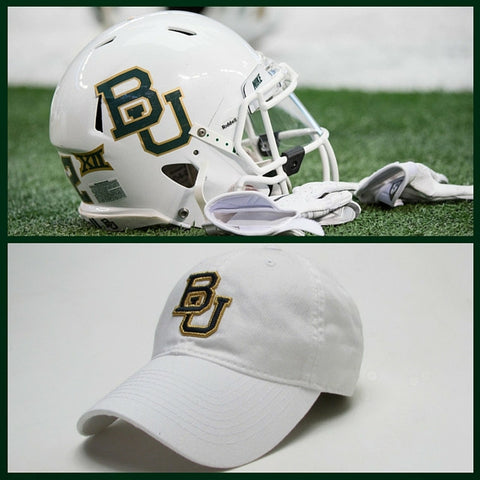 The Baylor White Interlocking BU Hat - Bailes Brothers Clothiers  - 2
