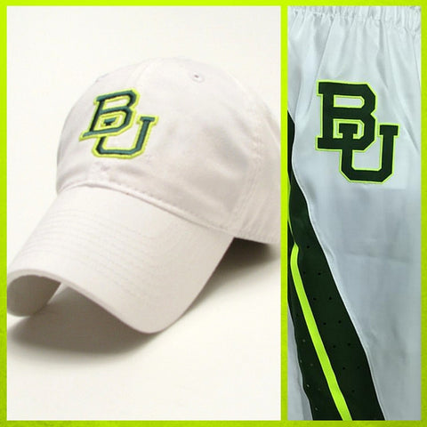 The Baylor Basketball Interlocking BU Hat - White - Bailes Brothers Clothiers  - 2