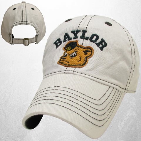 The Baylor Sailor Bear Contrast Hat - White - Bailes Brothers Clothiers  - 2