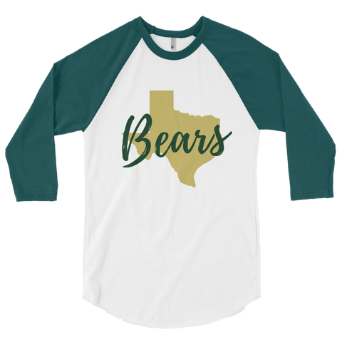 The Waco Texas Bears 3/4 Sleeve Raglan Shirt