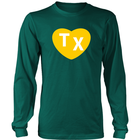 TX Heart Design Women's Tee - Green - Bailes Brothers Clothiers  - 2
