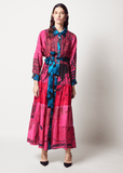 One-of-a-kind Volant Shirt Dress Dyed