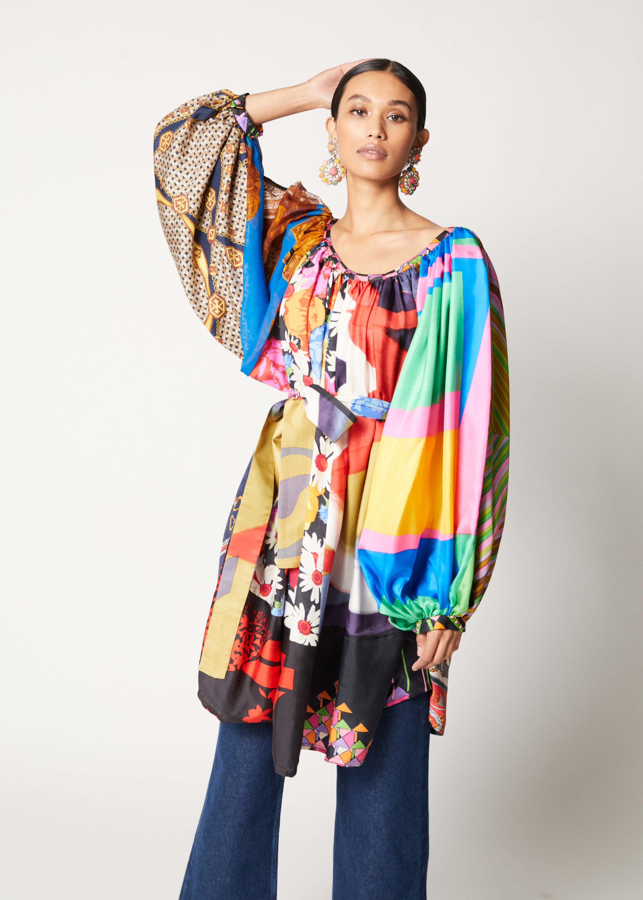 One-of-a-kind Super Wide Raglan Tunic