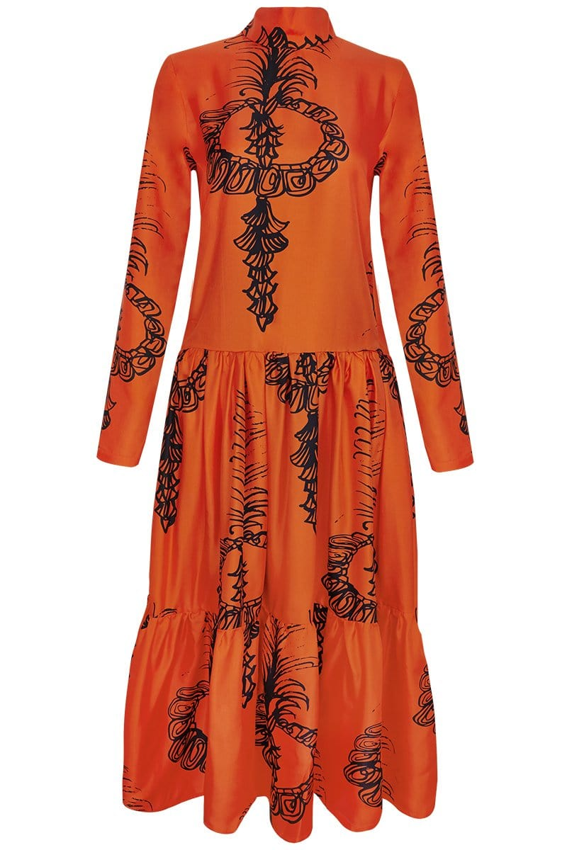RIANNA + NINA Dresses Siam Orange / S/M Carnaval Dress Mimi
