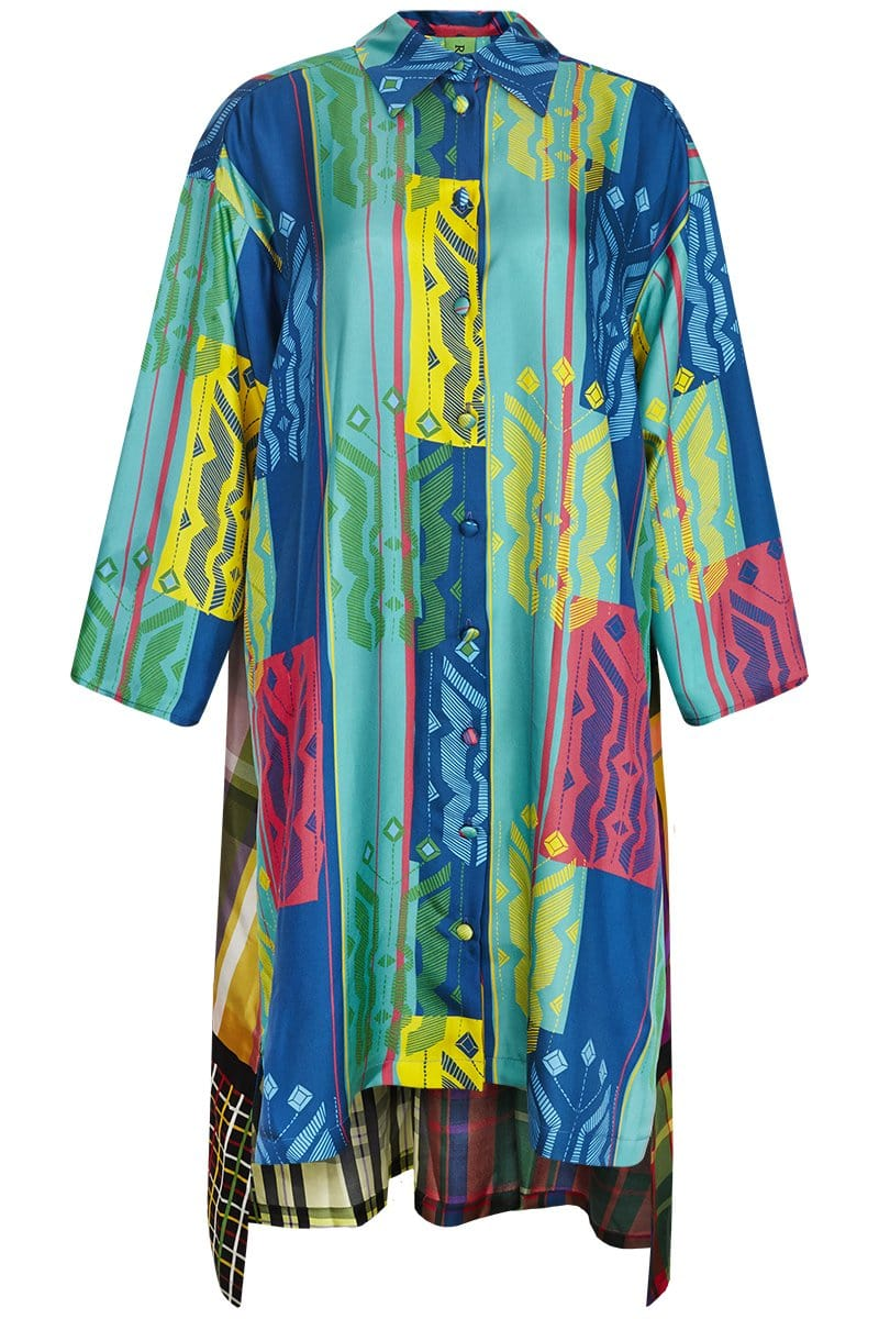 RIANNA + NINA Dresses Philia Blue / M/L Carnaval Blouse Dress Kathi