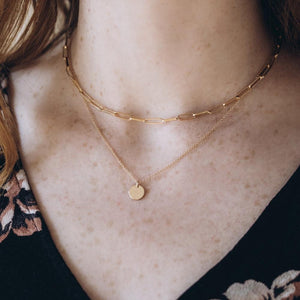 Paper Clip Choker Gold Necklace