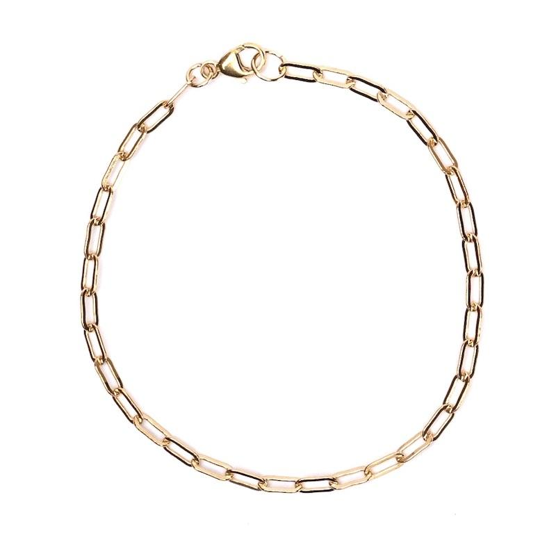 Dainty Gold Chain Link Bracelet 6x3mm - 7