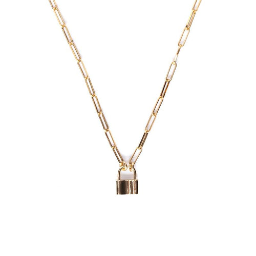 All Locked Up Gold Necklace