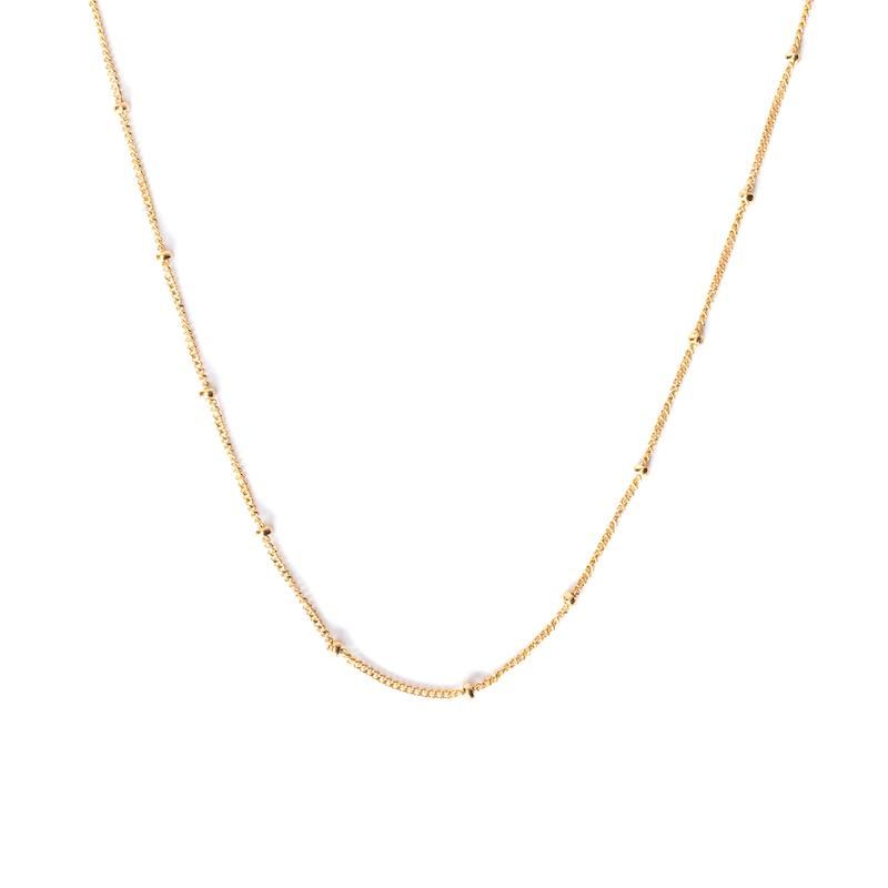 Gold Satellite Shorty Necklace