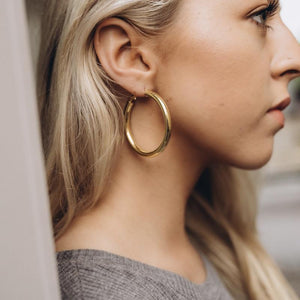 Gold Bold Hoops 35-50 mm