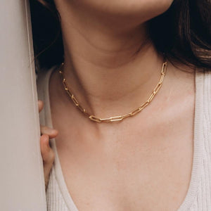 Bold Link Chain Gold Necklace