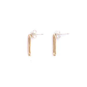Gold Chain Link Earring