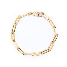 Bold Chain Link Gold Bracelet 15x5mm - 7""