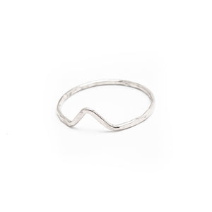 Sterling Silver Midi Chevron Ring