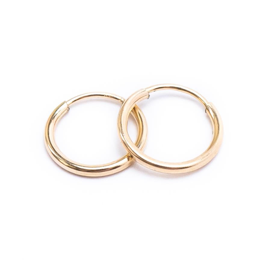 Gold Endless Hoops 9-20mm